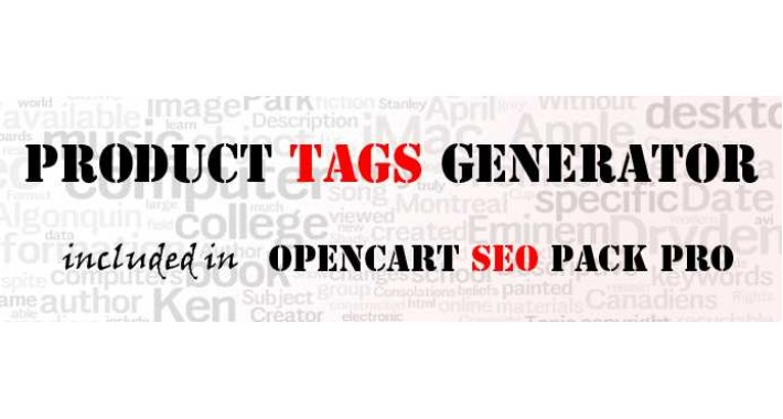 Product TAG Generator PRO (from Opencart SEO PACK PRO)