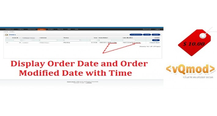 Display Order Date And Order Modified Date with time