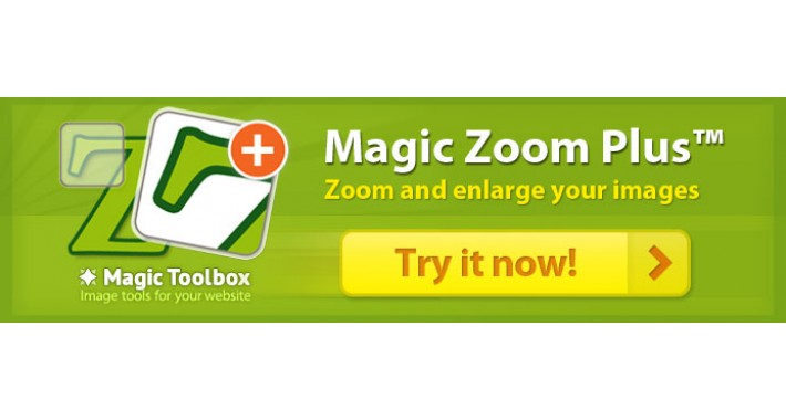 Magic Zoom Plus - zoom & enlarge images + product videos