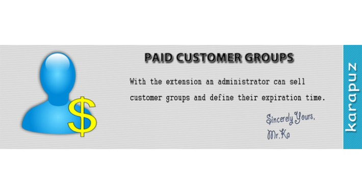 Paid Customer Groups
