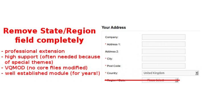 Remove State / Remove Region / Remove Zone
