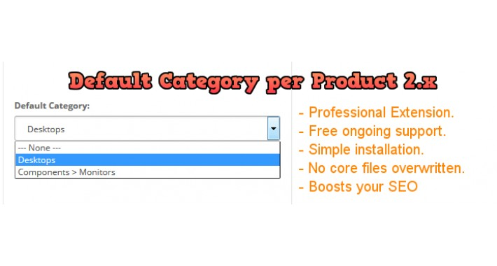 Default Category Per Product 2.x