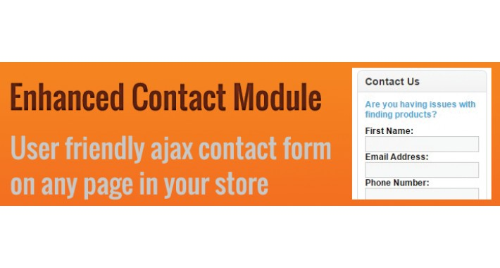 Enhanced Contact Us Module for opencart