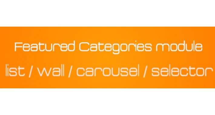 Featured Categories - Wall - Carousel - Selector - List