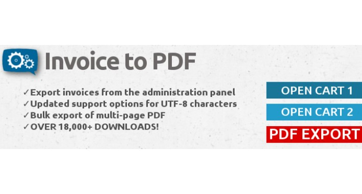OpenCart - Invoice to PDF