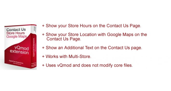 Contact Us Page Store Hours, Google Maps & Additional Text
