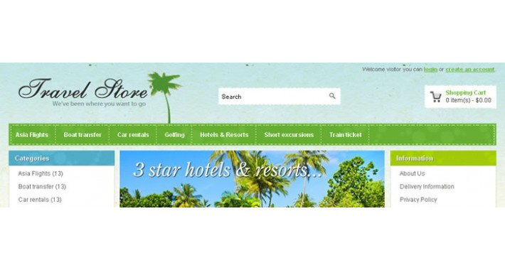Travel Store OpenCart Template - OPC040087