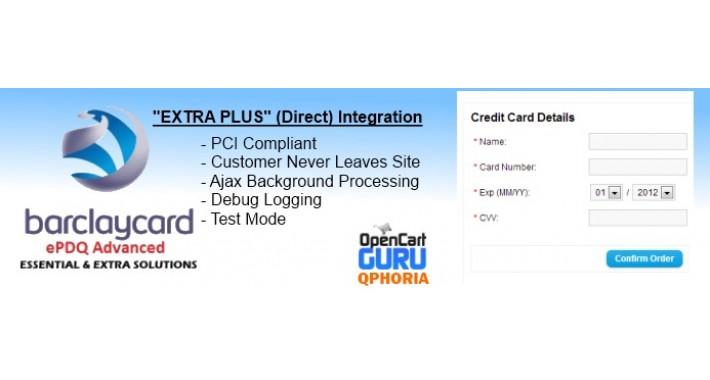 Barclay ePDQ Extra Plus (Direct API) (15x/2.x/3.0)