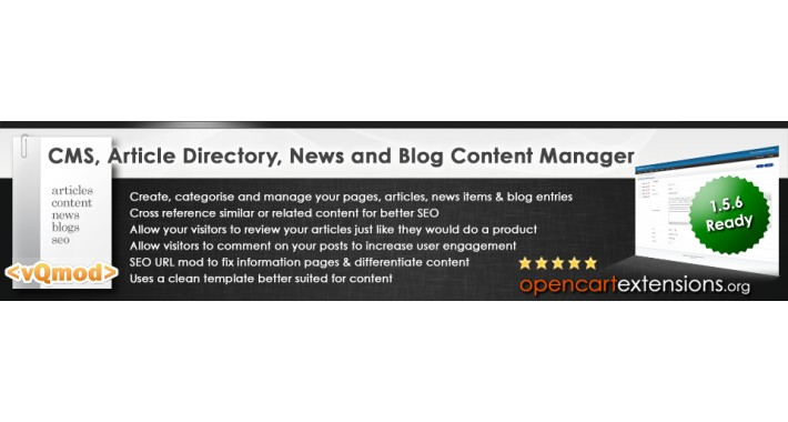 Blog CMS Article Directory News & Content Manager