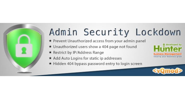 Admin Login Security Lockdown Suite