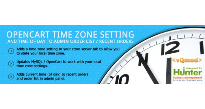Time Zone Setting & Admin Order Times