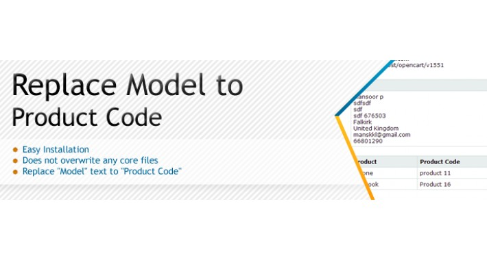Replace Model to Product Code - FREE