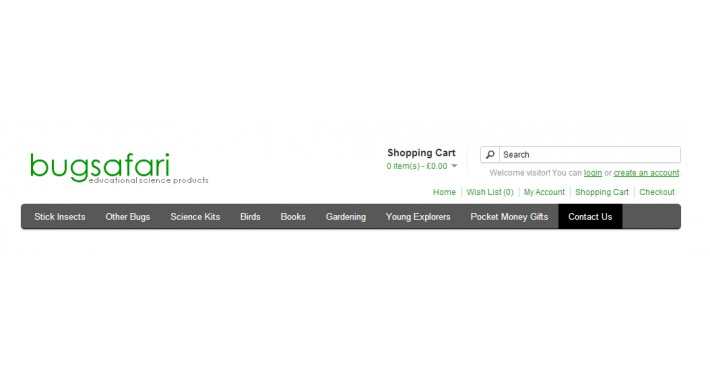 Contact Us Link in Top Menu - Contact Us Category Header Link