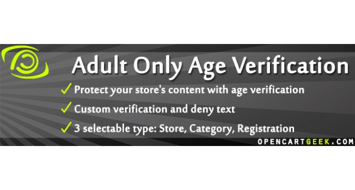 Adult Only Age Verification (set multiple ages)