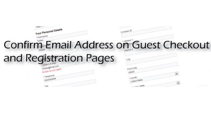 Confirm Email Registration and Guest (VQMod)