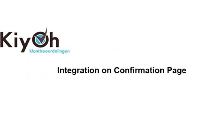 Kiyoh integration: Automatic invite on ConfirmationPage
