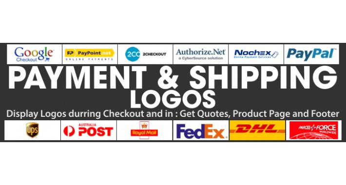opencart payment and shipping logos vqmod