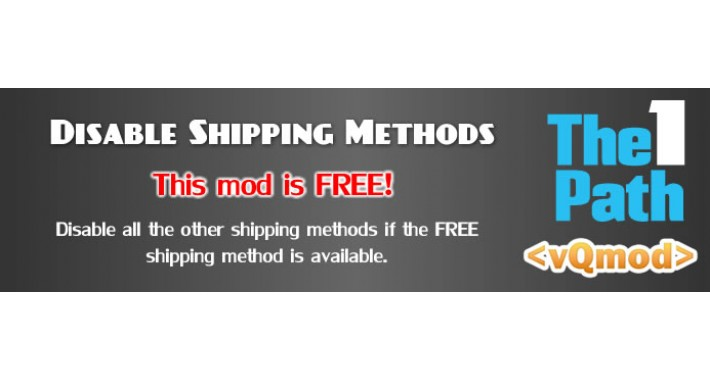 Disable other shipping methods if free shipping available