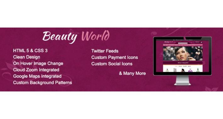 Beauty World Opencart Theme