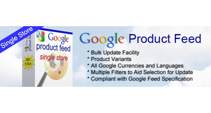 Google Product Feed for Opencart 1.5.x - Single Store Version