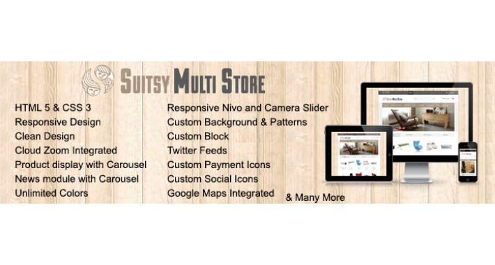 Suitsy Multistore Responsive Opencart Theme