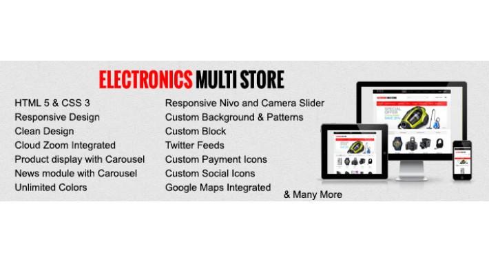 Electronics Multistore Responisve Opencart Theme