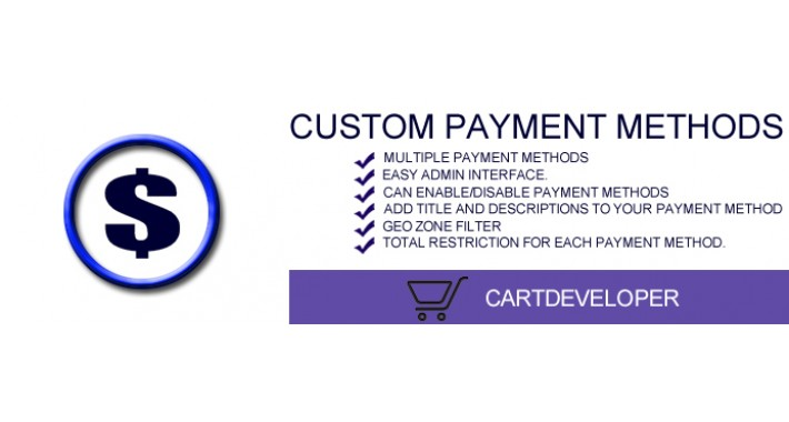 Custom Payment methods for Opencart