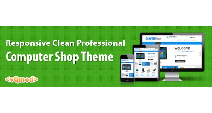 Responsive Clean Professional computer shop theme