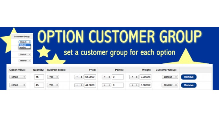 Option Customer Groups (1.5.x-2.3)