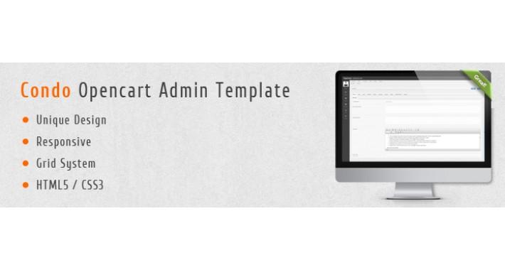 Condo Opencart Admin Template