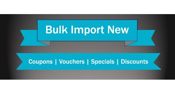Coupon | Voucher | Discount | Special Bulk Import[Vqmod]