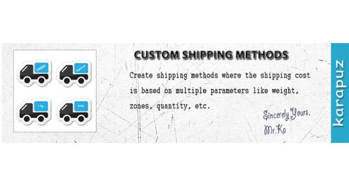 Custom Shipping Methods (for Opencart 1.5.x)