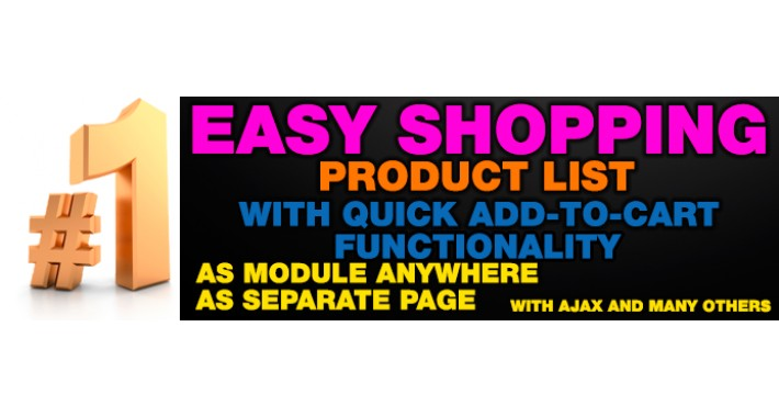 Easy Shopping - Product list with quick add-to-cart
