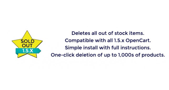 Sold Out! - Delete All Out Of Stock Products!