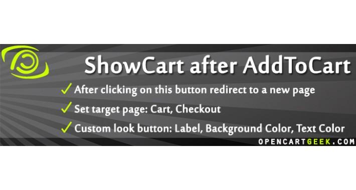 ShowCart after AddToCart