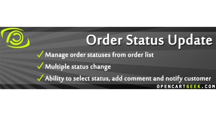 Order Status Update in Order List