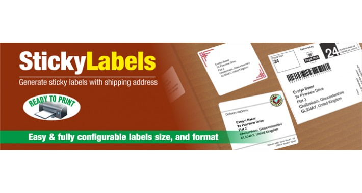 Sticky Labels - Shipping labels