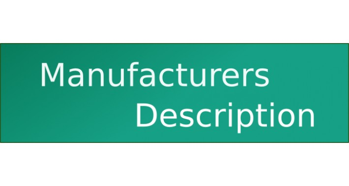Manufacturer Description (vQmod)