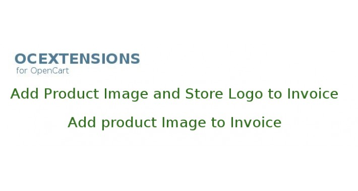 Add product image/store logo to invoice
