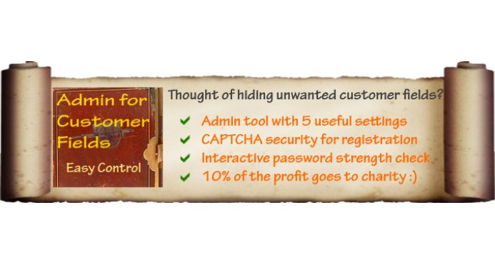 Admin for Customer Fields / Registration / CAPTCHA / vQmod