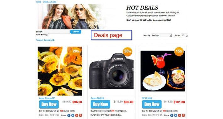 Deals - Today deals - Hotdeals - Manage Deals