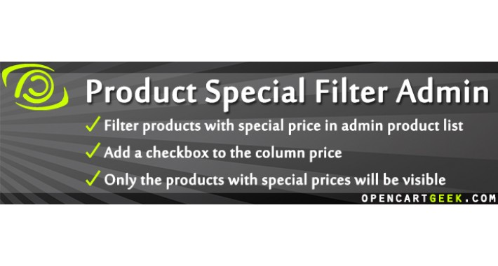 Product Special Filter Admin