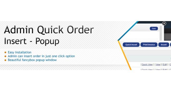 Quick Order Insert Popup - SALE 30% DISCOUNT