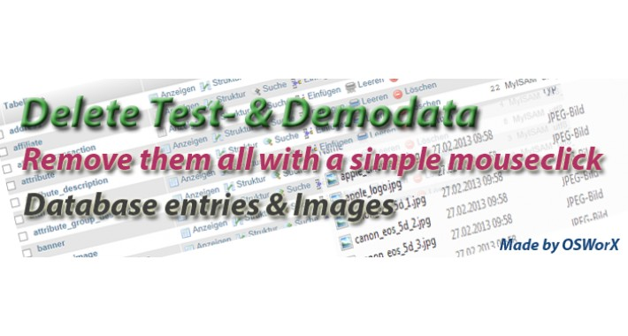 Delete Test- & Demodata