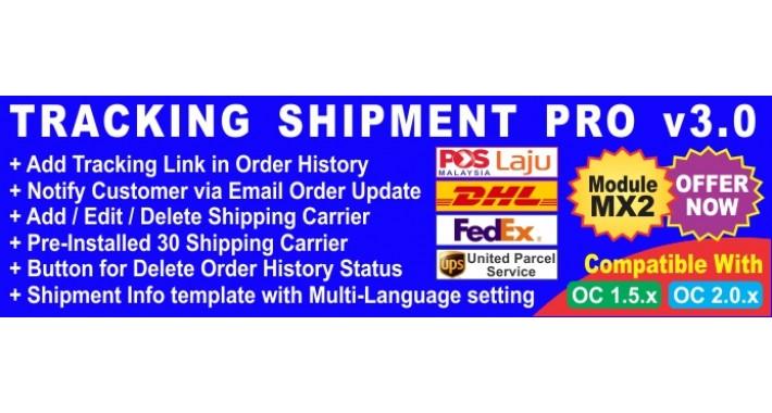 MX2 Tracking Shipment Pro