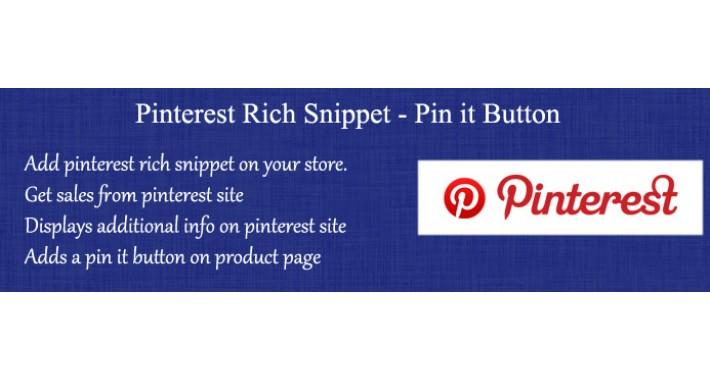 Pinterest Rich Pins Snippet - Pin It button