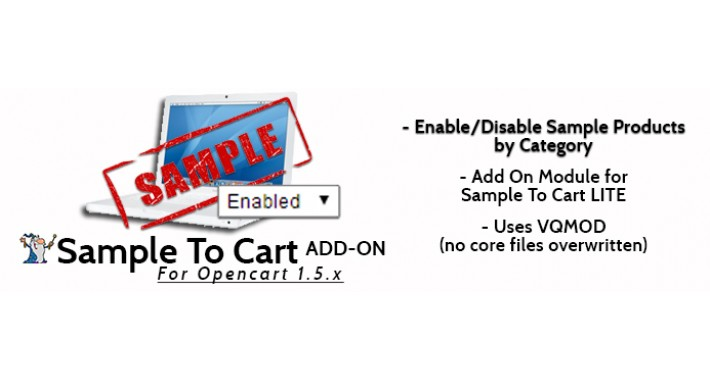 Sample To Cart ADD ON Enable/Disable Samples by Category
