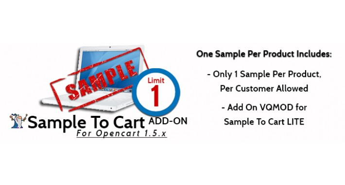 Sample To Cart ADD ON One Sample Per Product
