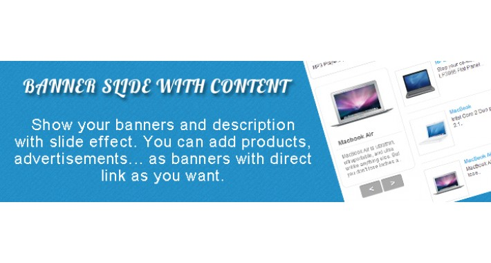 Banner Slide With Content