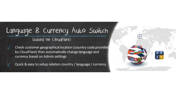 Language & Currency Auto Switch CloudFlare Based (OC1.5.x)
